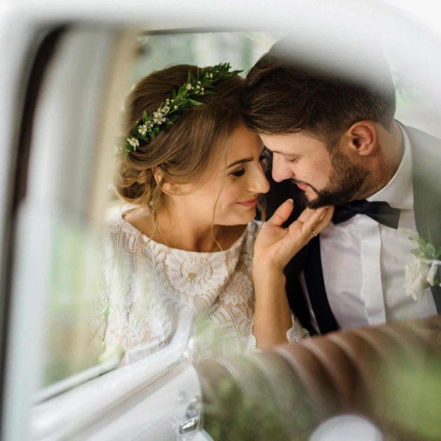Sesja ślubna w aucie - Marzena i Paweł