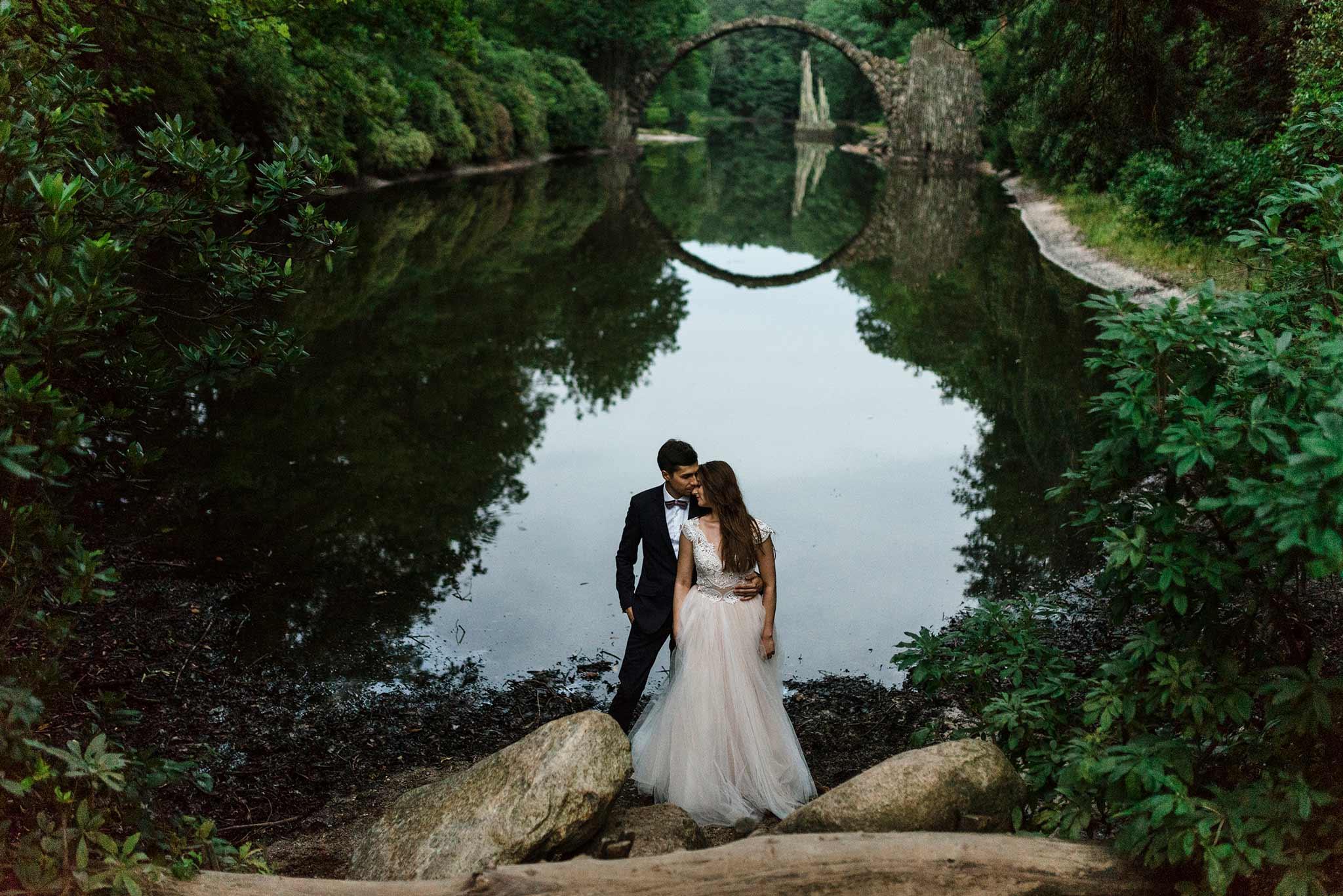 Fotografia ślubna - Plener ślubny przy Moście Diabła