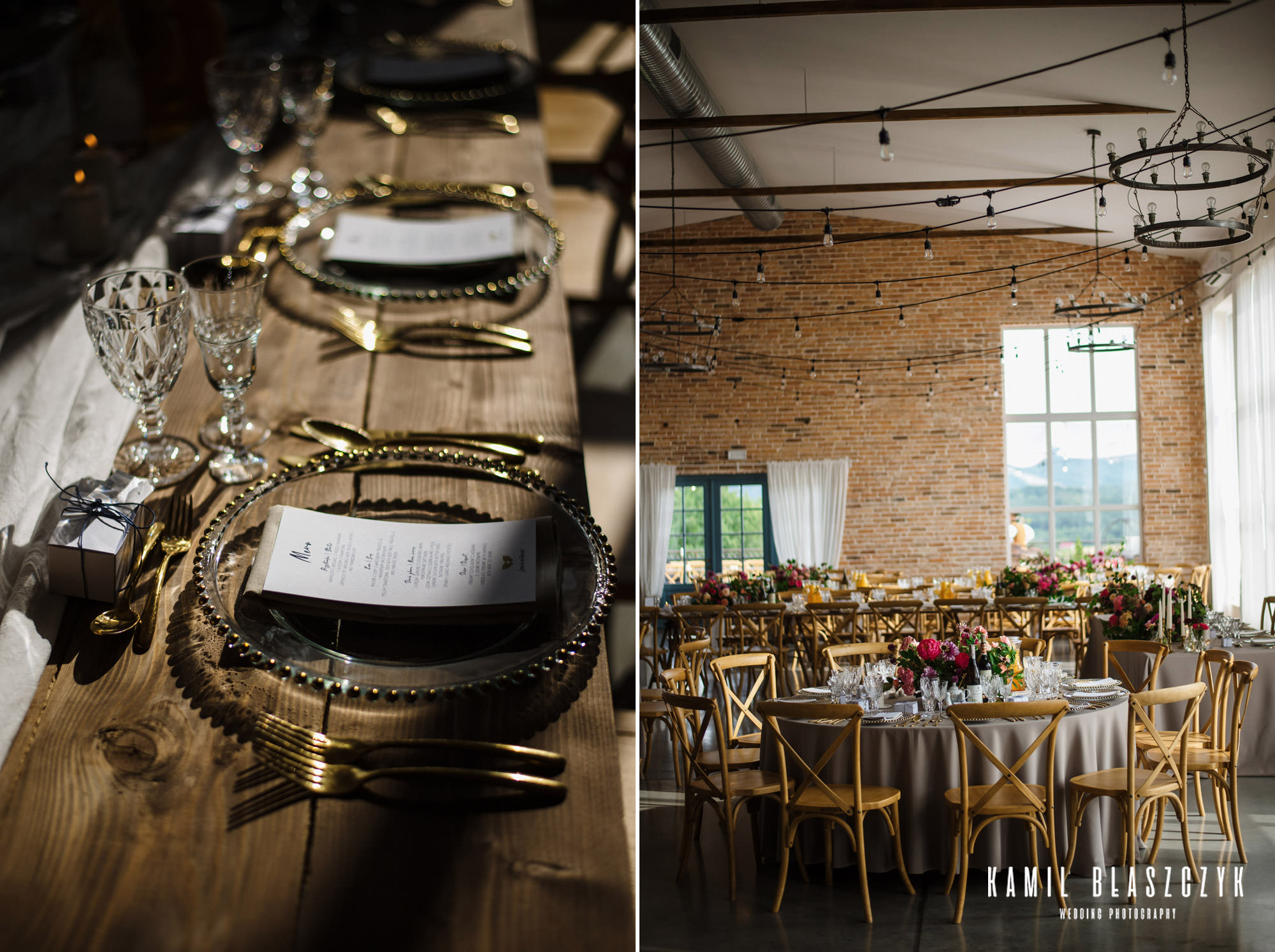 Villa Love dekoracje i okrągłe stoły