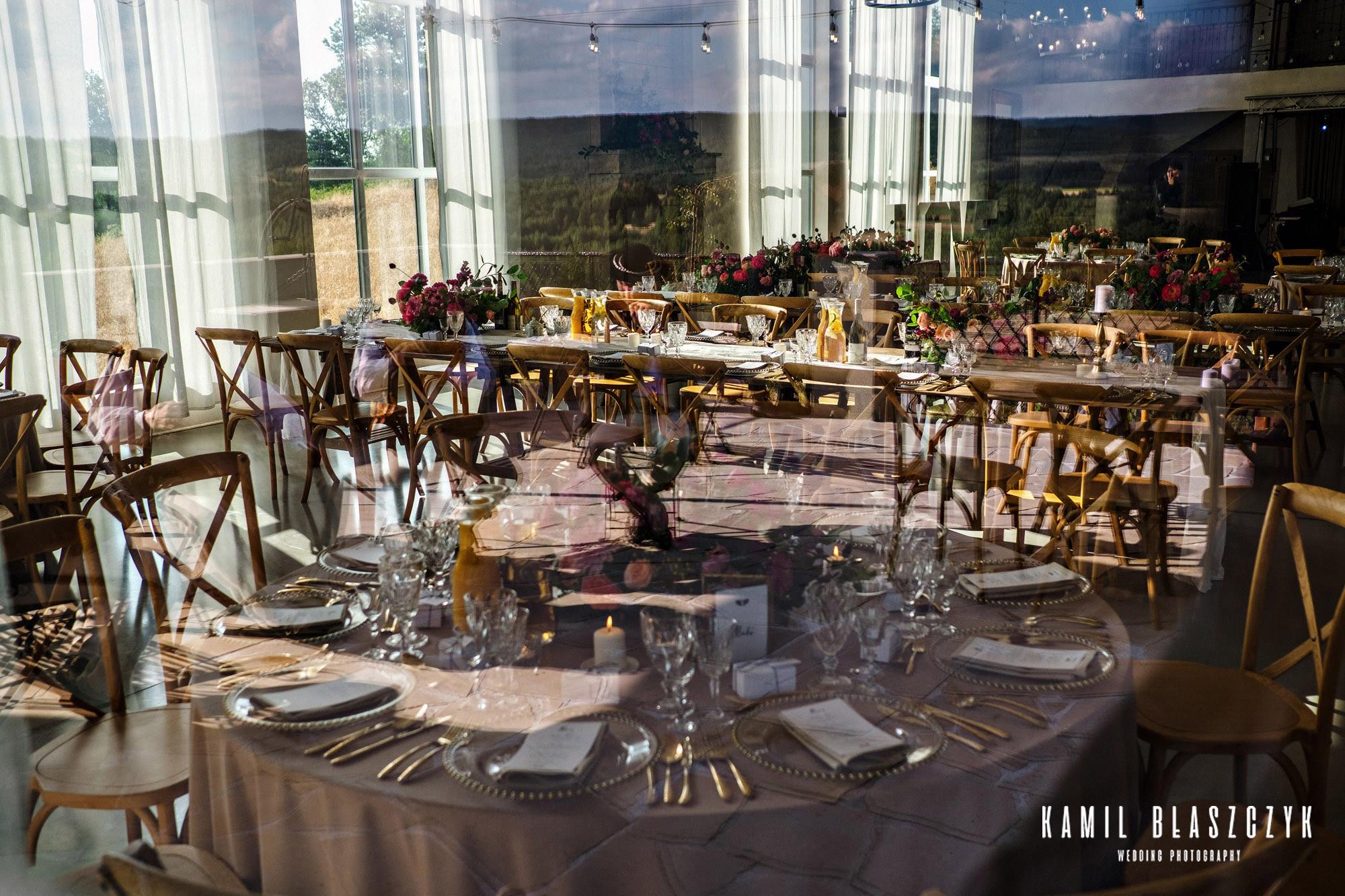 Układ stolików na weselu Agi i Graema w Villi Love