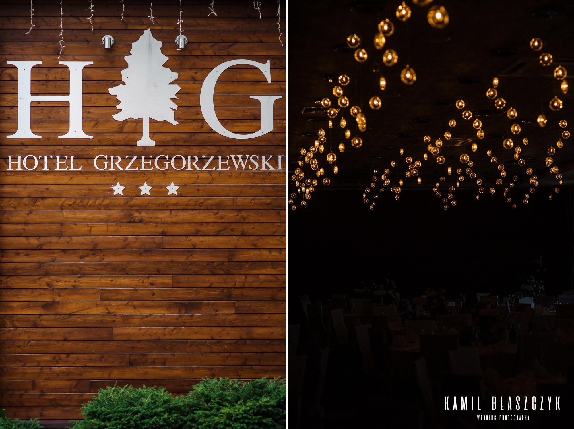 """Hotel Grzegorzewski Tuszyn Łódź """" Front hotelu i dekoracje - lokal na wesele"""