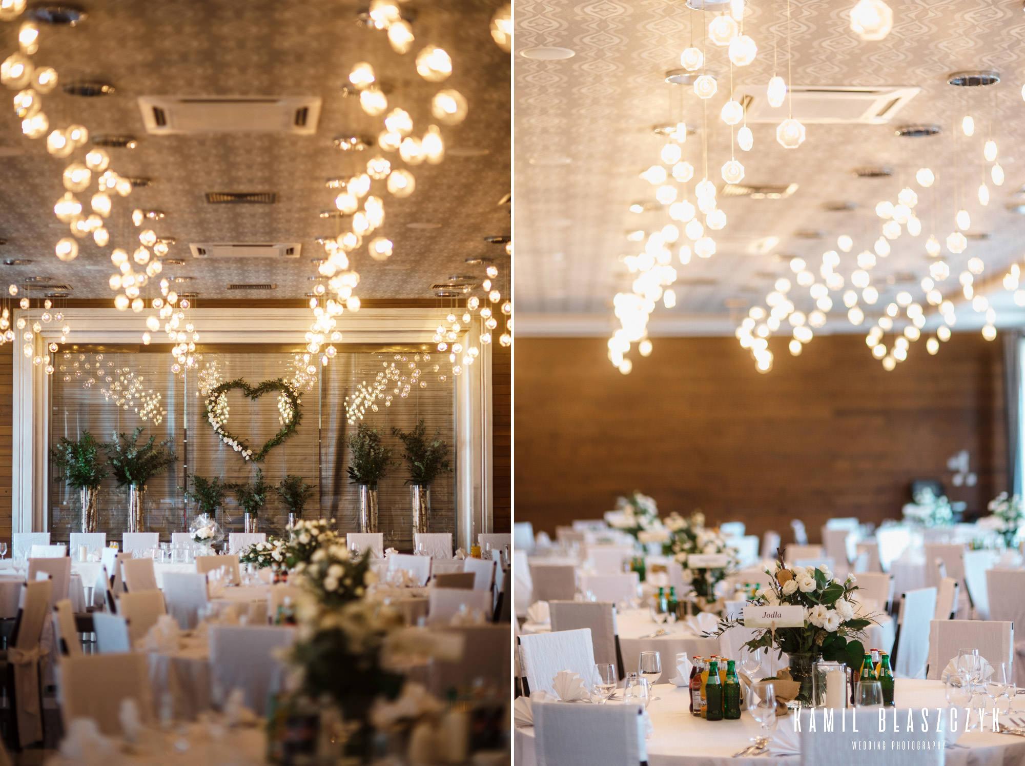 Dekoracja na wesele w Hotelu Grzegorzewski w Tuszynie - lokal na eleganckie wesele w województwie łódzkim