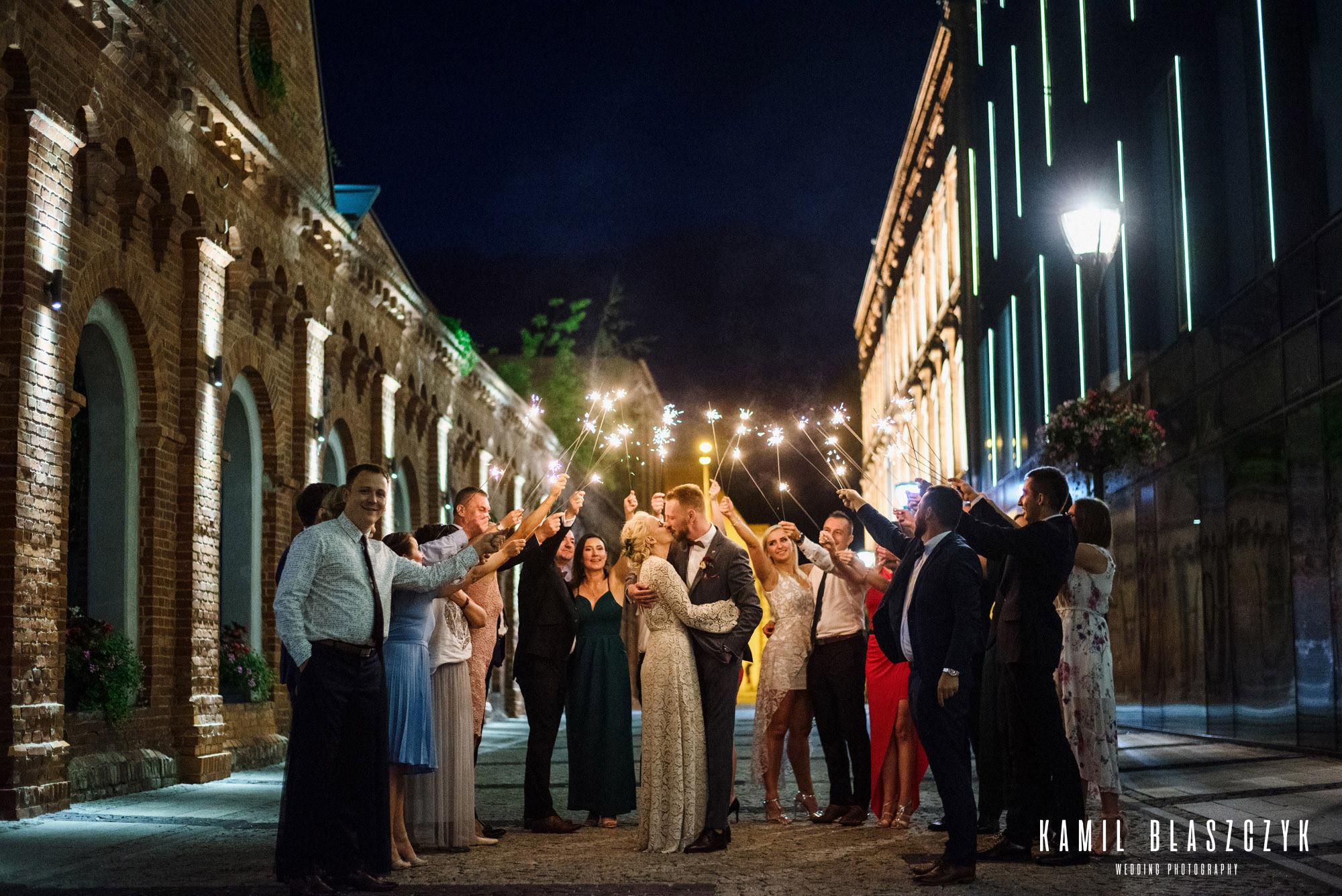 Zimne ognie na weselu - zdjęcia ślubne Klaudii i Rafała