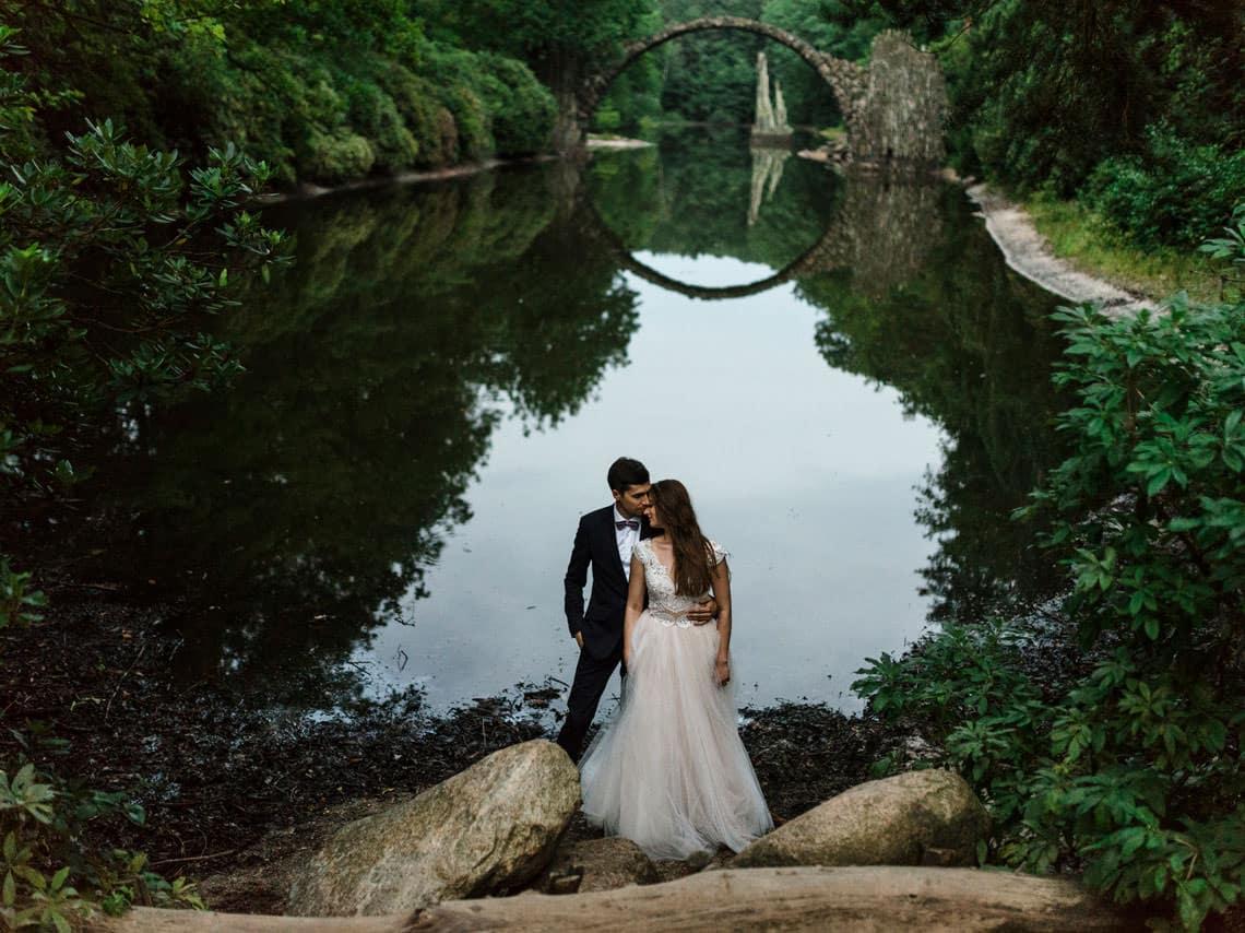 plenerowa sesja ślubna Marty i Jarka w Parku Rododendronów w Niemczech